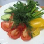 1.овощной букет