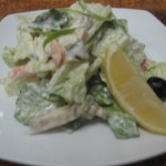 2.салат боярский с осетриной